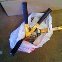 A sack of hammers. That's what.